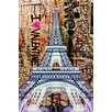 "Fluorescent Palace ""Street Art In The Sky Pink"" Canvas Art"