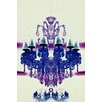 Fluorescent Palace Elegant Radiance Reverse Graphic Art on Canvas