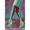 Fluorescent Palace Pursuit Graphic Art on Canvas