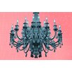 Fluorescent Palace Paparazzi Playhouse Rose Pastel Graphic Art on Canvas