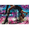 Fluorescent Palace Smooth Criminal Graphic Art on Canvas