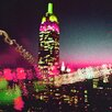 Fluorescent Palace Midnight City Graphic Art on Canvas