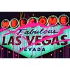 Fluorescent Palace Sin City Neon Nights Graphic Art on Canvas