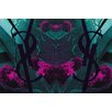 Fluorescent Palace Tree of Life Exotic Graphic Art on Canvas