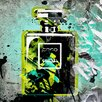 "Fluorescent Palace ""Mademoiselle - Green"" Canvas Art"