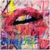 Fluorescent Palace Acrylic Lips Graphic Art on Wrapped Canvas