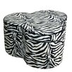 ORE Furniture Zebra Storage Ottoman with Seating