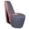 ORE Furniture Patriotic High Heel Storage Chair