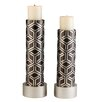 ORE Furniture Bamboo Weave 2 Piece Candlestick Set (Set of 2)
