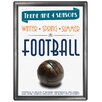 Red Hot Lemon 4 Seasons Football Vintage Advertisement