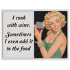 "Red Hot Lemon Schild ""I Cook With Wine"", Retro-Werbung"