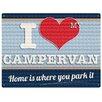 Red Hot Lemon Sign - I Love My Campervan Graphic Art Plaque