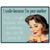 Red Hot Lemon Sign - I Smile Because Graphic Art Plaque