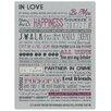 Red Hot Lemon Schild In Love, Typografische Kunst