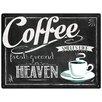 "Red Hot Lemon Schild ""Coffee Heaven"", Retro-Werbung"