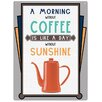 "Red Hot Lemon Schild ""Sunshine Coffee"", Retro-Werbung"