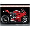 "Red Hot Lemon Schild ""Ducati 1199 Panigale R"", Retro-Werbung"