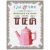 "Red Hot Lemon Schild ""Rise & Shine Tea"", Retro-Werbung"