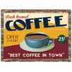 """Red Hot Lemon Schild """"Best Coffee In Town"""", Retro-Werbung"""