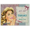 Red Hot Lemon 300x410mm Metal Wall Sign - Let's Talk Fabulous