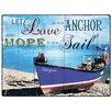 Red Hot Lemon Schild Love Be Your Anchor, Grafikdruck
