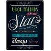 "Red Hot Lemon Schild ""Good Friends are like Stars"", Retro-Werbung"