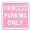 Red Hot Lemon Schild Princess Parking Only, Typografische Kunst