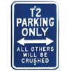 Red Hot Lemon Parking VW T2 Parking Only Typography Plaque