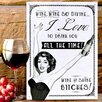 Red Hot Lemon Wine So Divine Graphic Art Plaque