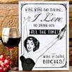 Red Hot Lemon Schild Wine So Divine, Grafikdruck