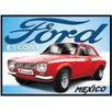 Red Hot Lemon Ford Escort Mexico Vintage advertisement Plaque