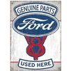 Red Hot Lemon Ford Genuine Parts V8 Vintage Advertisement Plaque