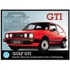 "Red Hot Lemon Schild ""VW Golf GTi"", Retro-Werbung"
