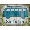 Red Hot Lemon Schild VW Camper Surf's Up, Grafikdruck