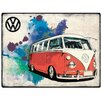 Red Hot Lemon Volkswagen VW Camper Grunge Wall Decor