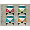 Red Hot Lemon Sign - VW Camper Colour Quad Graphic Art Plaque