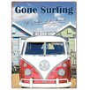 Red Hot Lemon 300x410mm Metal Wall Sign - VW Gone Surfing