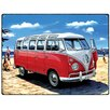 Red Hot Lemon 300x410mm Metal Wall Sign - VW Samba Bus Beach