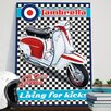 Red Hot Lemon Lambretta SX200 Chequer Vintage Advertisement Plaque