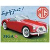 Red Hot Lemon MGA ROADSTER Vintage Advertisement Plaque
