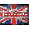 "Red Hot Lemon Schild ""Lambretta Grunge Flag"", Retro-Werbung"