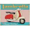 "Red Hot Lemon Schild ""Lambretta Retro Scooter"", Retro-Werbung"
