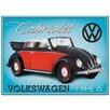 Red Hot Lemon VW Beetle Cabriolet Type 15 Vintage Advertisement Plaque