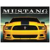 Red Hot Lemon Ford Mustang Vintage Advertisement Plaque