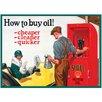 "Red Hot Lemon Schild ""Shell How To Buy Oil"", Retro-Werbung"