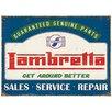 Red Hot Lemon Lambretta Genuine Parts Vintage Advertisement Plaque