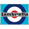Red Hot Lemon Lambretta Target Vintage Advertisement Plaque