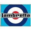 "Red Hot Lemon Schild ""Lambretta Target"", Retro-Werbung"