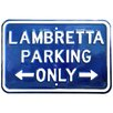 Red Hot Lemon Lambretta Parking Only Typography