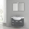 "ACF Bathroom Vanities Phinex 31.5"" Single Bathroom Vanity Set with Mirror"